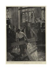 Preparing for the Funeral Service in St George's Chapel, Windsor by Frank Craig