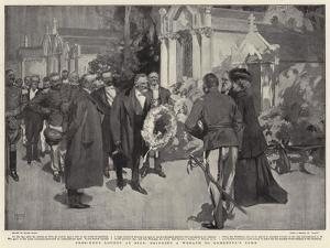 President Loubet at Nice, Bringing a Wreath to Gambetta's Tomb by Frank Craig