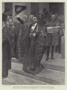 Proclaiming the King's Coronation at the Royal Exchange by Frank Craig