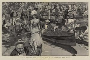 Royal Henley, the Scene on the River Between the Races by Frank Craig