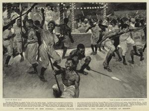 The Advance in the Soudan, Native Troops Celebrating the Feast of Bairam at Berber by Frank Craig