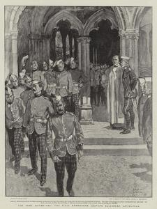 The Army Manoeuvres, the Kos Borderers Leaving Salisbury Cathedral by Frank Craig
