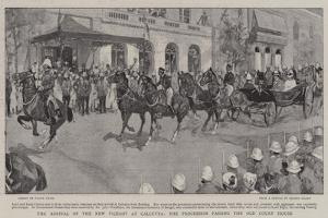 The Arrival of the New Viceroy at Calcutta, the Procession Passing the Old Court House by Frank Craig