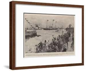 The Arrival of the Royal Yacht in Kingstown Harbour by Frank Craig