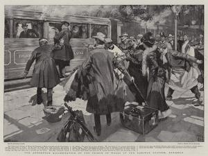 The Attempted Assassination of the Prince of Wales at the Railway Station, Brussels by Frank Craig