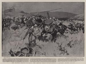 The British Mission to Kano, the British Force Withstanding a Cavalry Charge at Ugu by Frank Craig