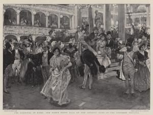 The Carnival in Rome, the Fancy Dress Ball of the Artists' Club in the Costanzi Theatre by Frank Craig