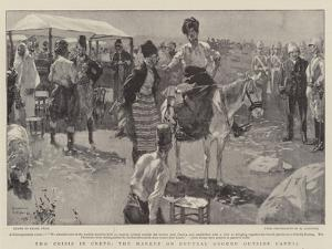 The Crisis in Crete, the Market on Neutral Ground Outside Candia by Frank Craig