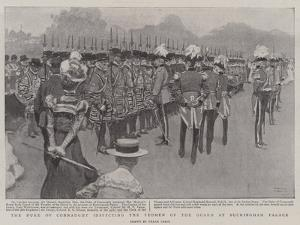 The Duke of Connaught Inspecting the Yeomen of the Guard at Buckingham Palace by Frank Craig