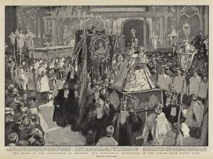 The Feast of the Assumption in Antwerp, the Centennial Procession of the Virgin from Notre Dame by Frank Craig
