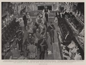 The Funeral of the Duke of Teck, the Service in St George's Chapel Windsor by Frank Craig