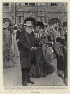 The Garden Party at Hatfield House, Lord Salisbury Receiving Indian Princes by Frank Craig
