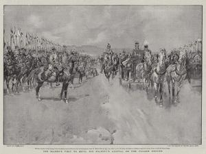 The Kaiser's Visit to Metz, His Majesty's Arrival on the Parade Ground by Frank Craig