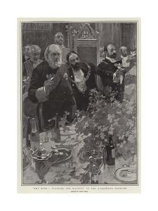 The King, Toasting His Majesty at the Guildhall Banquet by Frank Craig