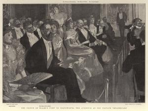 The Prince of Wales's Visit to Chatsworth, the Audience at the Private Theatricals by Frank Craig