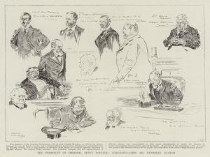 The Prospects of Imperial Penny Postage, Congratulating Mr Henniker Heaton by Frank Craig