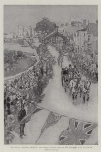 The Queen's Eightieth Birthday, Her Majesty Driving Through the Triumphal Arch at Windsor by Frank Craig