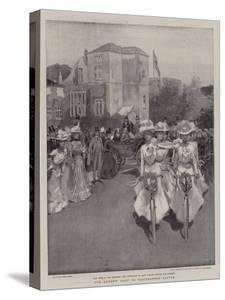 The Queen's Visit to Carisbrooke Castle by Frank Craig