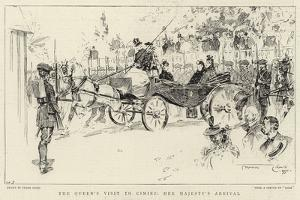 The Queen's Visit to Cimiez, Her Majesty's Arrival by Frank Craig