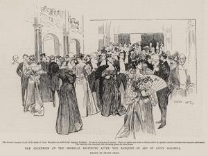 The Reception at the Imperial Institute after the Banquet in Aid of Guy's Hospital by Frank Craig
