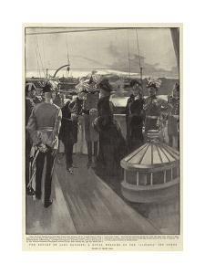 The Return of Lord Roberts, a Royal Welcome on the Alberta Off Cowes by Frank Craig