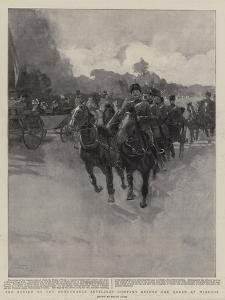 The Review of the Honourable Artillery Company before the Queen at Windsor by Frank Craig