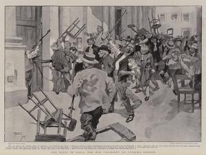 The Riots in Paris, the Mob Pillaging St Joseph's Church by Frank Craig