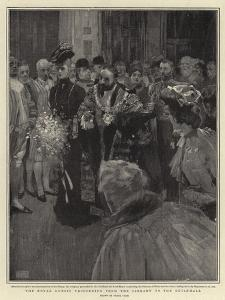 The Royal Guests Proceeding from the Library to the Guildhall by Frank Craig