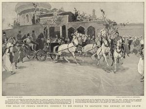 The Shah of Persia Showing Himself to His People to Disprove the Report of His Death by Frank Craig