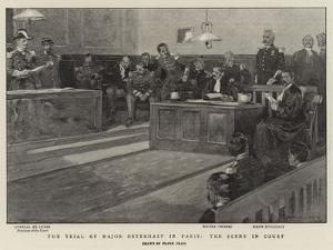 The Trial of Major Esterhazy in Paris, the Scene in Court by Frank Craig