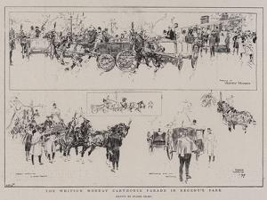 The Whitsun Monday Carthorse Parade in Regent's Park by Frank Craig