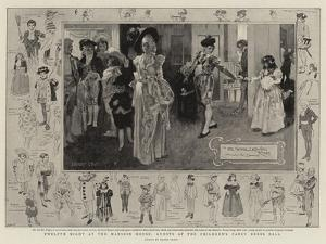 Twelfth Night at the Mansion House, Guests at the Children's Fancy Dress Ball by Frank Craig
