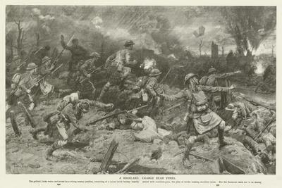 A Highland Charge Near Ypres, World War I