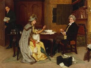 Consulting Her Lawyer, 1892 by Frank Dadd