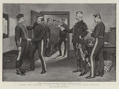 Fitting New Uniforms, a Scene at the Depot of the Royal Horse Artillery