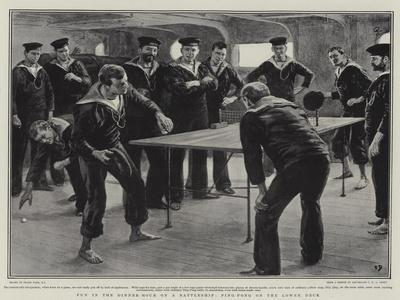Fun in the Dinner-Hour on a Battleship, Ping-Pong on the Lower Deck