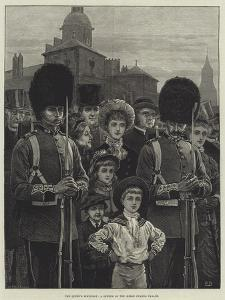 The Queen's Birthday, a Sketch on the Horse Guards Parade by Frank Dadd