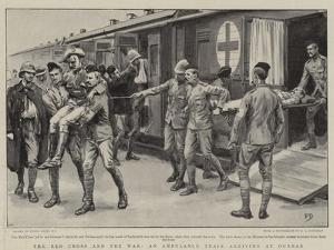 The Red Cross and the War, an Ambulance Train Arriving at Durban by Frank Dadd