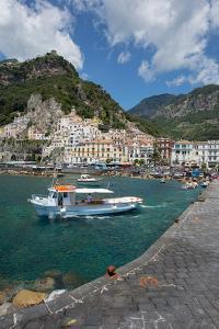 Amalfi from Harbour, Amalfi, Costiera Amalfitana (Amalfi Coast) by Frank Fell