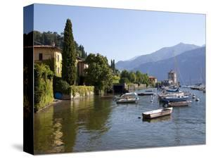 Boat Harbour and Lake Como, Bellagio, Lombardy, Italian Lakes, Italy, Europe by Frank Fell