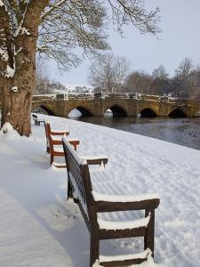 Bridge over the Wye River in Winter, Bakewell, Derbyshire, England, United Kingdom, Europe by Frank Fell