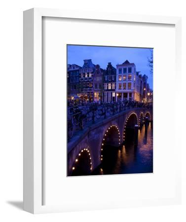Canal and Bridge, Amsterdam, Holland, Europe