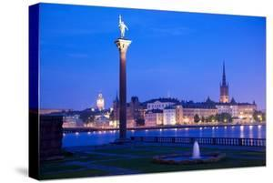 City Skyline from City Hall at Dusk, Kungsholmen, Stockholm, Sweden, Scandinavia, Europe by Frank Fell