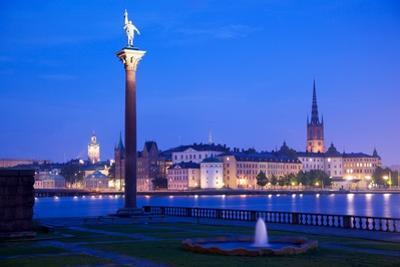City Skyline from City Hall at Dusk, Kungsholmen, Stockholm, Sweden, Scandinavia, Europe by Frank Fell