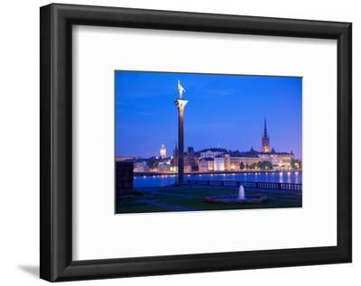 City Skyline from City Hall at Dusk, Kungsholmen, Stockholm, Sweden, Scandinavia, Europe