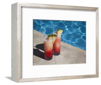 Colourful Cocktails by the Pool, Punta Cana, Dominican Republic, West Indies, Caribbean, Central Am