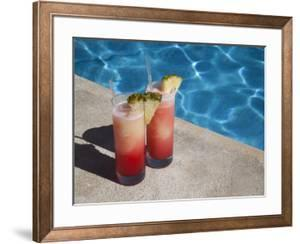Colourful Cocktails by the Pool, Punta Cana, Dominican Republic, West Indies, Caribbean, Central Am by Frank Fell
