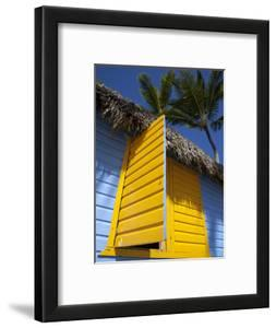 Colourful Hut, Bavaro Beach, Punta Cana, Dominican Republic, West Indies, Caribbean, Central Americ by Frank Fell