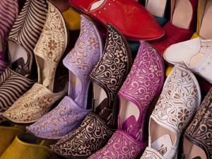 Colourful Slippers, Marrakesh, Morocco, North Africa, Africa by Frank Fell