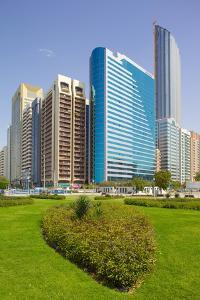 Contemporary Architecture Along the Corniche, Abu Dhabi, United Arab Emirates, Middle East by Frank Fell